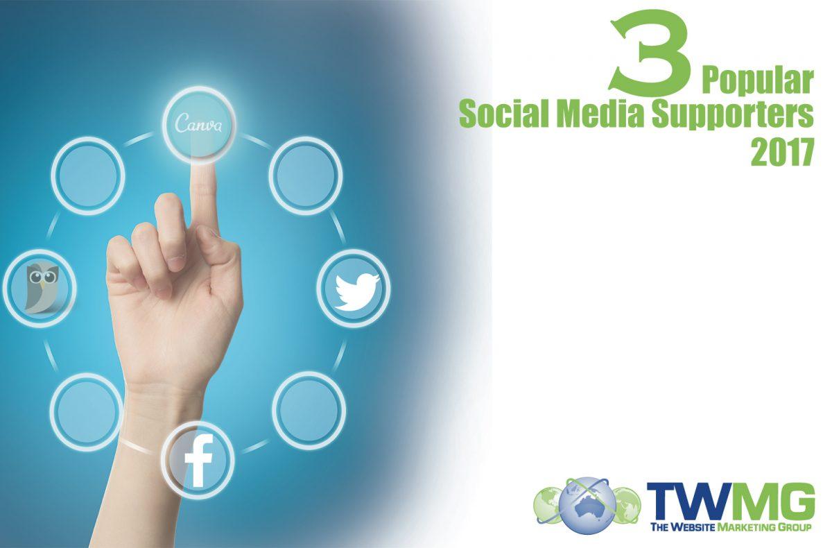 3 popular social media supporters 2017