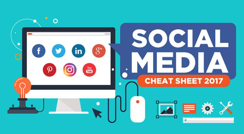Social Media Cheat Sheet 2017, digital agency sydney, social media sydney, web design sydney